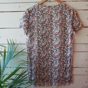 Tops - Whistles sheer floral silk tee 4 (XS/S)